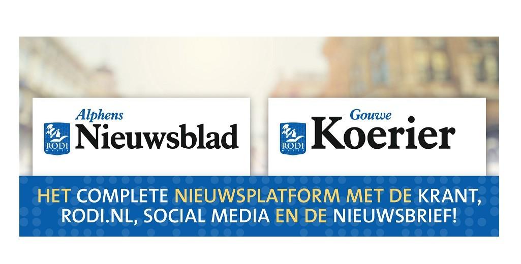 Rodi Media gaat van start met Alphens Nieuwsblad en de Gouwe Koerier